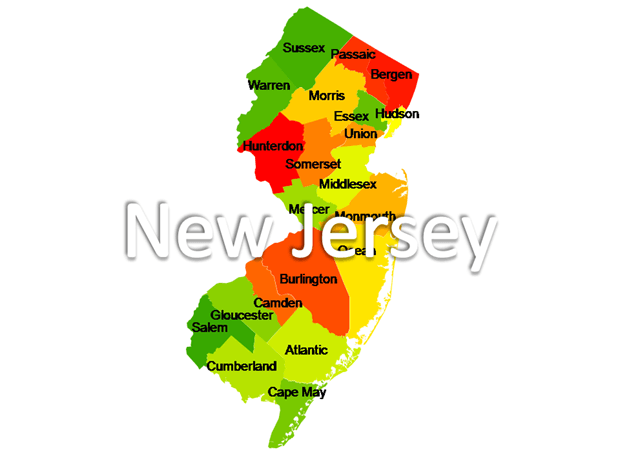 New Jersey Powerpoint Maps | US State Boundary Maps | New ...